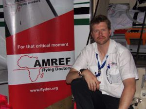 AMREF medic Dr Matt Edwards