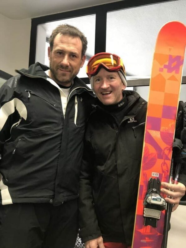 Jason 'Foxy' Fox meets his hero Eddie the Eagle